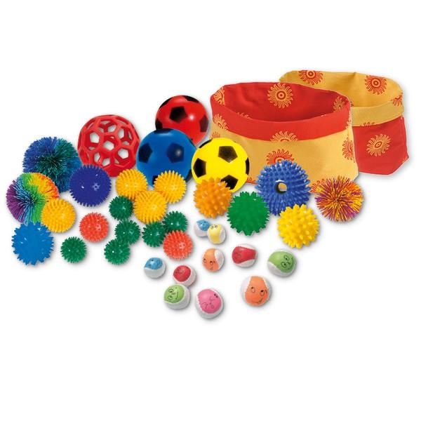Zestaw piłek o różnych strukturach