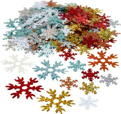 Śnieżynki z folii holograficznej