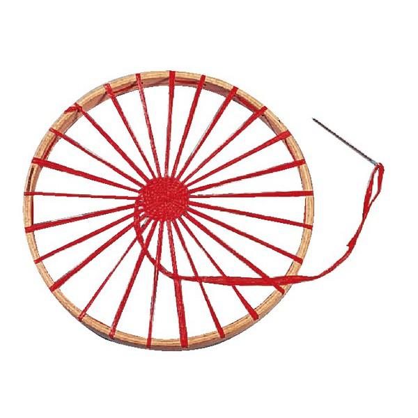 Warsztat tkacki okrągły drewniany