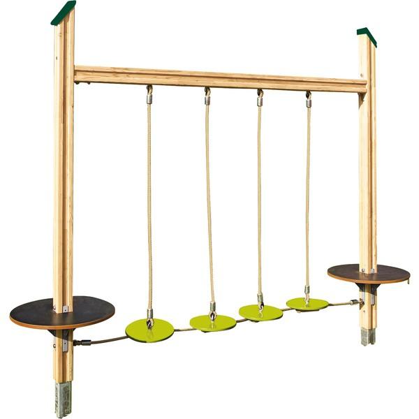 Most z talerzyków do balansowania