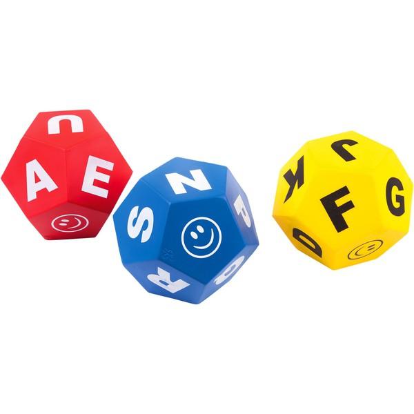 Kostki do gry z literami