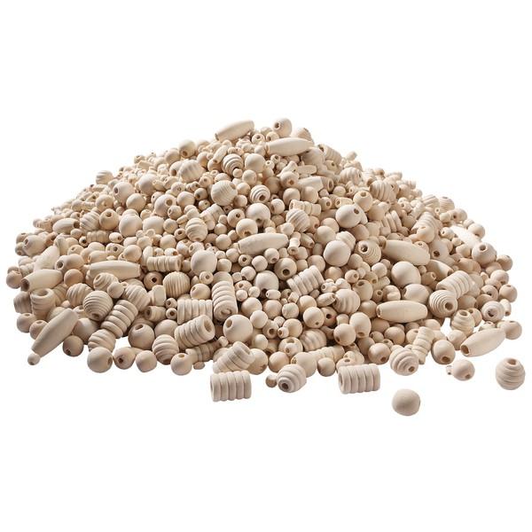 Naturalne drewniane koraliki, 1 kg