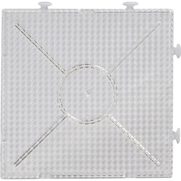 Podstawki, przezroczyste kwadratowe na koraliki do prasowania, 10 szt.