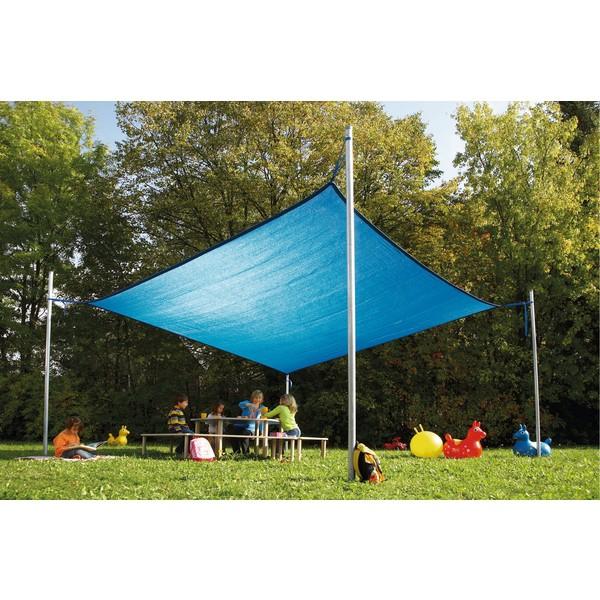 Plandeka przeciwsłoneczna 50% UV, 4 x 4 m
