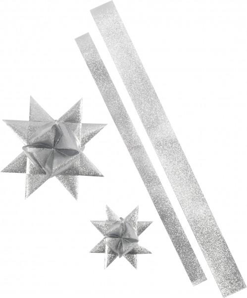 Paski w wodoodpornej folii na gwiazdy Froebla - srebrne